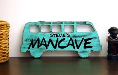 This listing is for a custom cutout of any car of choice, plus personalized with any name. The photo in this listing is a Classic VW Bus, but I can make any car you want. This is perfect for guys who love their cars, and they make great mancave signs. Just let me know the make and model of the car and the year and that's all I need to get it started.