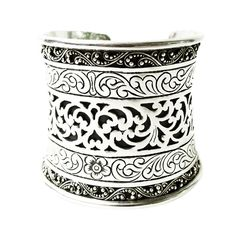 Lois Hill Sterling Cuff | From a unique collection of vintage cuff bracelets at https://www.1stdibs.com/jewelry/bracelets/cuff-bracelets/