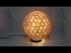 ▶ Como hacer una lámpara de diseño. Design lamp. - YouTube