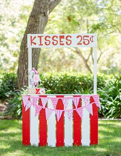 Kissing booth at a Valentine's Day Party!  See more party ideas at CatchMyParty.com!