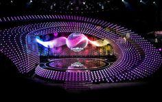 Eurovision Song - Contest in Vienna Bild:ORF Bühnen Design, Display Design, Event Design, Stage Lighting Design, Stage Set Design, Eurovision Song Contest, Concert Stage Design, Exhibition Booth Design, Colorful Birds