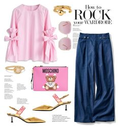 """""""P is for Pink"""" by lidia-solymosi ❤ liked on Polyvore featuring Chicwish, Moschino, Prada, Maria Black, Scosha and Elie Saab"""