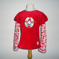 Girls Sweater Red Mushroom Custom Size 3T 4T 5T 6 - 7 Years Farbenmix Children Clothing Pink Fall Winter. $45.00, via Etsy.
