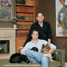 """""""We're very lucky."""" / Tom (47), LA & Sal (48), NY / San Francisco, November 2011 #InternationalOrange"""