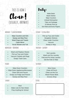 Medium to large size of free printable cleaning schedule schedules galore house plan samples home template Cleaning Hacks Tips And Tricks, Deep Cleaning Tips, House Cleaning Tips, Spring Cleaning, Cleaning Schedules, Diy Hacks, Cleaning Charts, Household Cleaning Schedule, Weekly Cleaning Checklist