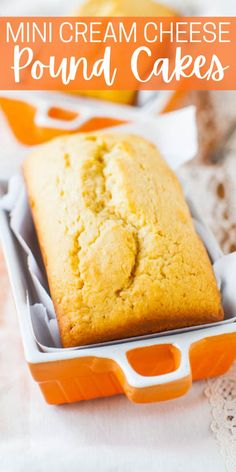 Glazed Mini Cream Cheese Pound Cake Loaves — Adorable mini vanilla pound cakes that are moist, tender, and not at all dry!! Or you can bake them as a full-sized loaf. This recipe will make anyone a fan of pound cake!!