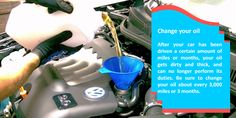 Change oil often   Oil is the lifeblood that keeps key engine components in good working condition by reducing friction and wear. Change your oil about every three months, or check your owner's manual for the manufacturer's recommended oil change intervals. This will ensure you are doing your part to maintain the frequency of oil changes your car needs. Always be sure to check for proper oil levels when preparing for any long trip you may be planning.  #allweathertyre