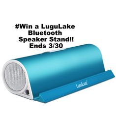 Win a @LuguLake Bluetooth Speaker Stand.  #giveaway #bluetooth Striking Turquoise color!! 3/30