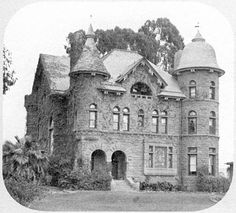 """JThe John Gay residence, Fifth and Juniper, Bankers' Hill (c. 1888). On seeing this photograph a recent arrival to San Diego exclaimed """"Oh! San Diego did have a past!"""" The site now holds some bland 1950s medical offices."""
