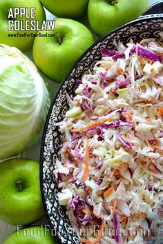 Apple Coleslaw | FoodForYourGood.com #apple_coleslaw
