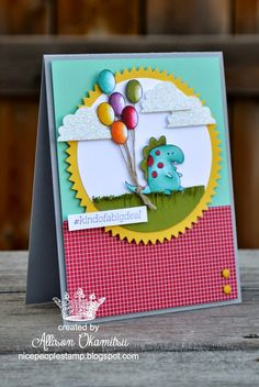 nice people STAMP!: Little Buddy Birthday Blendabilities Card - Stampin' Up! by Allison Okamitsu