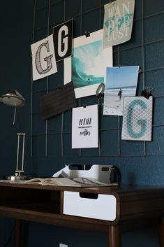Mid Century Inspired Teen Boy's Room DIY grid mood board