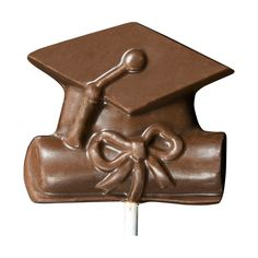 Cap and Diploma Chocolate Lollipop. Available in milk, dark and white chocolate.