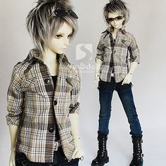 BJD doll clothing [oblique fight shoulder shirt] multicolor 1/4.1/3. The uncle LUTS.DOD.AS.DZ.SD baby clothes - Taobao 48.00