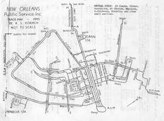 New Orleans History, System Map, Suspended Animation, Streetcar Named Desire, Car Barn, Light Rail, Local History, Public Service, Historical Maps