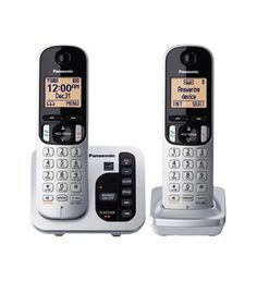 PANASONIC KX-TGC222S DECT 6.0 Expandable Cordless Phone, Answering, CID, CWCID #Panasonic