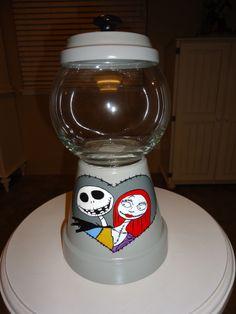 Jack/Sally Candy Jar