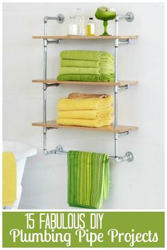 15 DIY Plumbing Pipe Projects via tipsaholic.com  -Metal plumbing pipes  used to build clothes rack, canopy bed, etc.