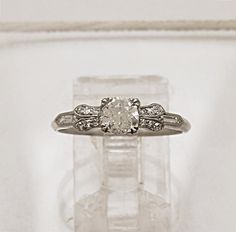 0.45ct. Diamond & Platinum Art Deco by GesnerEstateJewelry on Etsy, $3745.00