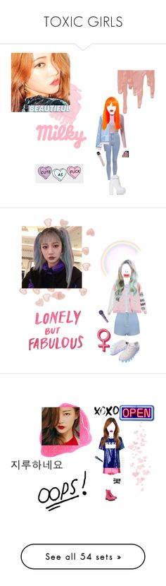 """""""TOXIC GIRLS"""" by official-toxicgrils on Polyvore featuring Topshop, MANGO, Jeffrey Campbell, Hartmann, Parisian, MSGM, Dr. Martens, Elegant Touch, Love Moschino e Converse"""