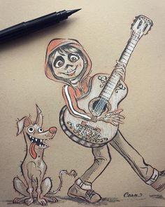 Drawing Cartoon Characters, Character Drawing, Cartoon Drawings, Easy Drawings, Drawing Sketches, Arte Disney, Disney Art, Disney Duos, Zentangle