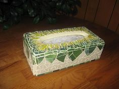 Sunflower tissue box cover - Mosaics - Gallery - Stained Glass Town Square
