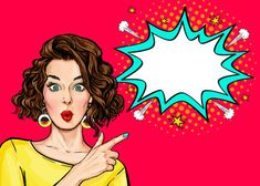 Find Pop Art Woman Surprise Showing Product stock images in HD and millions of other royalty-free stock photos, illustrations and vectors in the Shutterstock collection. Thousands of new, high-quality pictures added every day. Desenho Pop Art, Photo Lovers, Pop Art Women, Pop Art Wallpaper, Pop Art Girl, Pop Art Illustration, Jolie Photo, Vector Art, Comic Art