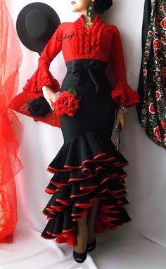 Spanish Dress Flamenco, Flamenco Skirt, Flamenco Dancers, Flamenco Dresses, Ethnic Fashion, African Fashion, Dance Fashion, Fashion Dresses, Mode Russe
