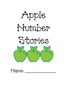 I created these apple number stories for my first graders to practice drawing pictures to solve number stories. We use it as one of the many apple ...