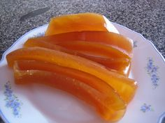 Pompoendessert in Citroensap Pumpkin Recipes, Cookie Recipes, Dessert Recipes, Desserts, Turkish Recipes, Ethnic Recipes, Turkish Kitchen, Salty Foods, Sweet And Salty