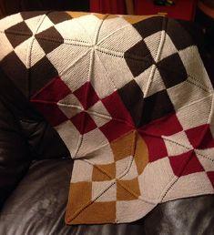 Ravelry: Diagonal Rib Mitered Square Blanket pattern by Joan Marie