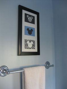 Disney Art- different colors, could be cute for the boys bathroom