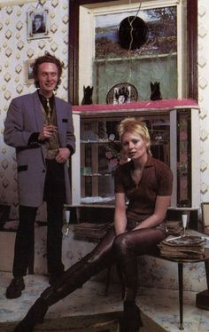 Pre-punk Malcolm McLaren and Vivienne Westwood: he was a teddy boy and she looks like David Bowie.