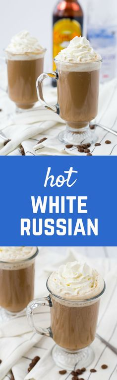 Perfect for the holidays or any chilly day, this Hot White Russian is cozy while still packing a bit of a punch and is a great adult alternative to hot cocoa.