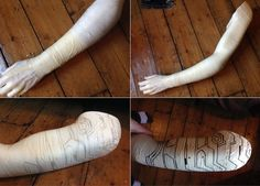 "sketchmcdraw: "" Hello! As I've had several people ask about the creation process of the arm I had made for by Bucky costume, I thought I'd make a tutorial and share it with you guys - hope it helps..."