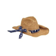 23353fd2481 Women s San Diego Hat Company Paper Cowboy Hat with Bandana Print Band...  ( 42) ❤ liked on Polyvore featuring accessories