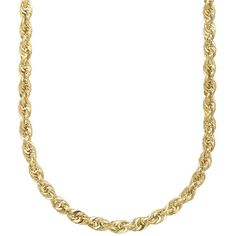 Lord & Taylor 14K  Rope Chain Link Necklace ($925) ❤ liked on Polyvore featuring men's fashion, men's jewelry, men's necklaces e yellow gold