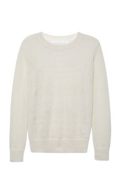 Mohair-Blend Lace Knit Sweater by Thakoon Addition Now Available on Moda Operandi