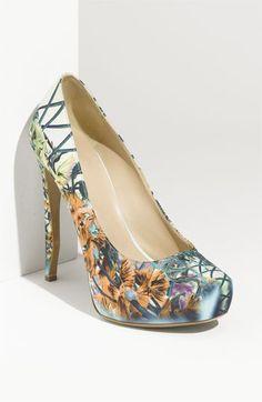 Floral print shoes rock.