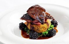 Roast Grouse with Blackberries and port wine jus - Chef William Drabble