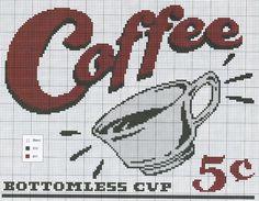 .Nostalgic coffee ad to cross stitch