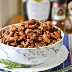 The Holiday Snack Season is here! These spicy sweet roasted nuts are great for parties or just the family.