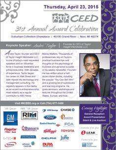 CEED 31st Annual Award Celebration, April 23, 2015, www.ceedawards.org