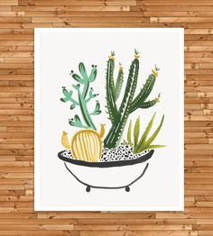 Small Desert Cactus Art Print by Idlewild Co. on Scoutmob Shoppe