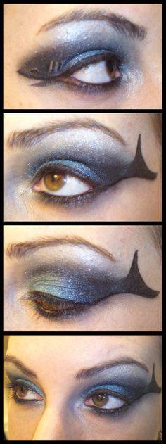 Makeup for Shark Week costume