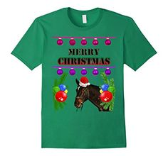 Men's Funny Ugly Christmas Holiday T Shirt Colorful Gaudy... 100% Cotton Imported Machine wash cold with like colors, dry low heat If you'd rather spend Christmas in the barn, this shirt is for you! Festive looking horse with a Christmas hat, in the middle of colorful Christmas graphics. Lightweight, Classic fit, Double-needle sleeve and bottom hem https://www.amazon.com/dp/B01IYS1HLU/ref=cm_sw_r_pi_dp_x_EeORxbJXKZH3P