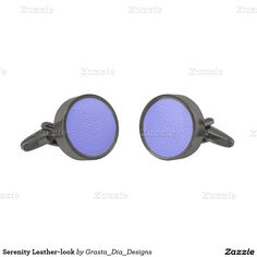 Serenity Leather-look Gunmetal Finish Cufflinks