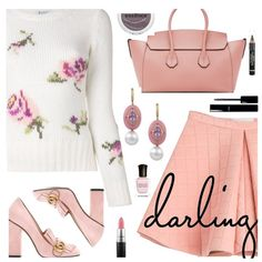 Pink Fall by deborah-calton on Polyvore featuring polyvore, fashion, style, Dondup, Marina Hoermanseder, Gucci, Bally, Essence, MAC Cosmetics and L'Oréal Paris