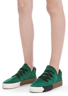 UK 4.5 GREEN x AW SKATE SHOES x ADIDAS ORIGINAL x SIZE 6 US WOMEN x UNISEX SHOES #adidasAWoriginals #SkateShoes