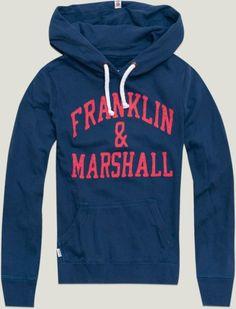 "Women's Hoodie Sweatshirt with ""Franklin & Marshall"" appliqué | Fleece | Woman | Collection | Franklin"